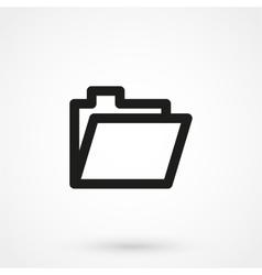 Folder icon black on white background vector