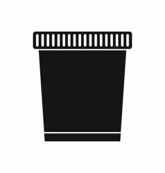 Trash can icon simple style vector