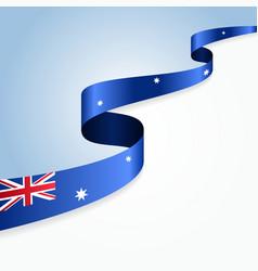 Australian flag background vector