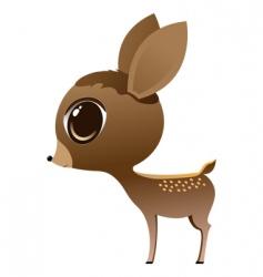 baby deer vector image