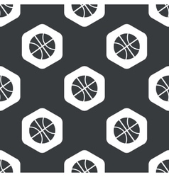 Black hexagon basketball pattern vector