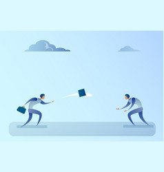 Business people throwing contract document vector