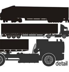 Cargo semi-truck silhouettes vector
