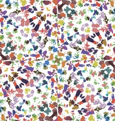 Chaotic pattern paint strokes vector image vector image