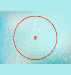 circle on hockey rink vector image vector image