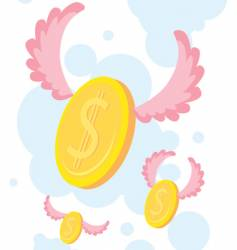 coin flying vector image vector image
