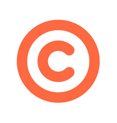Copyright symbol or sign flat icon vector