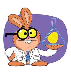 Easter bunny scientist vector