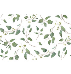 Eucalyptus tree natural branches seamless pattern vector