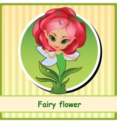 Fairy flower - hand-drawn vector image vector image