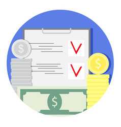 finance audit and check icon vector image vector image