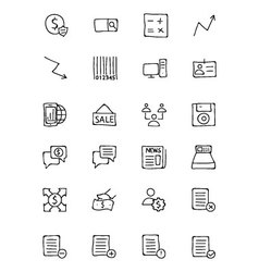 Finance hand drawn doodle icons 9 vector