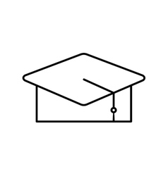 Hat graduate isolated icon vector