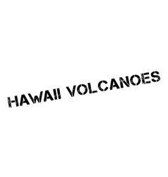 Hawaii volcanoes rubber stamp vector