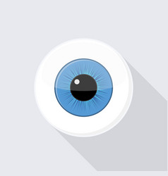 human eyeball eye with bright blue vector image