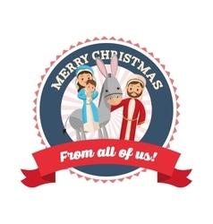 Manger icon Merry Christmas design vector image