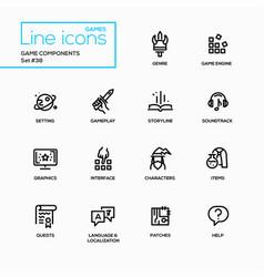 Mmog - modern single line icons set vector
