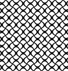 Monochrome seamless curly fence pattern vector
