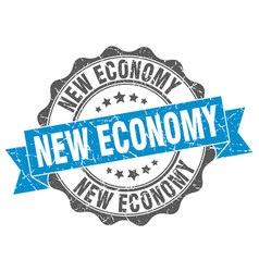 New economy stamp sign seal vector