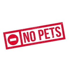 No Pets rubber stamp vector image vector image