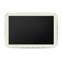 Old blank photo frame placed in album vector