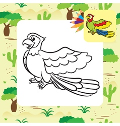 Parrot coloring page vector