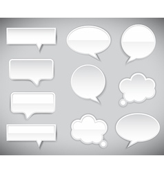 pop-up bubble with shadow on grey background vector image vector image