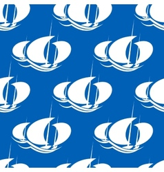 Racing yachts seamless pattern vector image