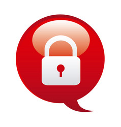 Red bubbles with lock symbol icon vector