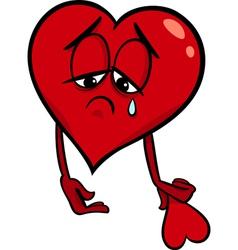 sad broken heart cartoon vector image