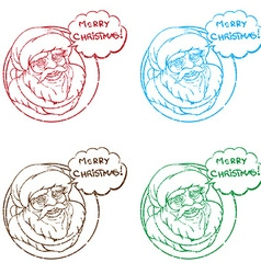 santa stamp collection vector image vector image