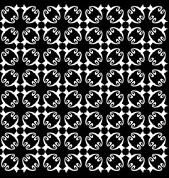 seamless abstract vintage black white pattern vector image vector image