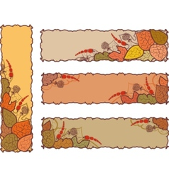 set of four autumn banners vector image
