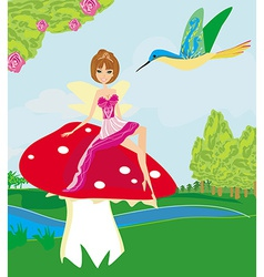 The small fairy vector image