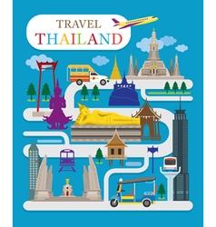 Travel thailand flat design vector