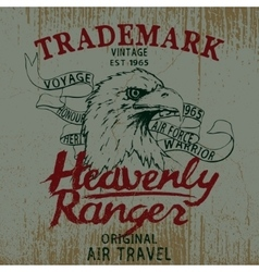 Vintage label with eagle vector