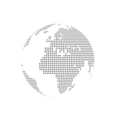 white dotted globe glass transparent vector image vector image