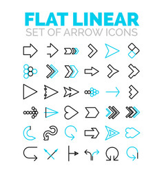 Set of flat linear premium icons vector