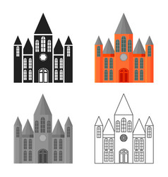 church icon cartoon single building icon from the vector image