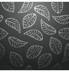 Seamless black leaves background vector