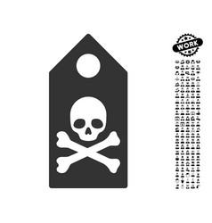 Death mark icon with men bonus vector