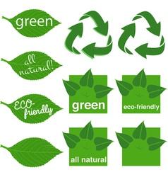 Green logos vector