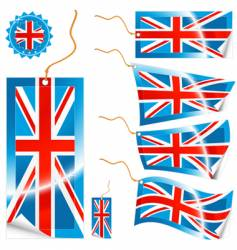 Uk flag tags vector