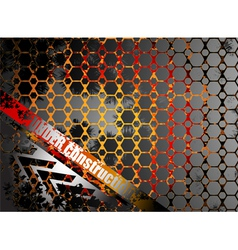 Under construction metallic abstract background vector
