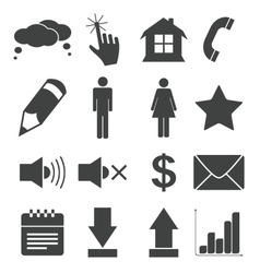 Simple black icon set 2 vector
