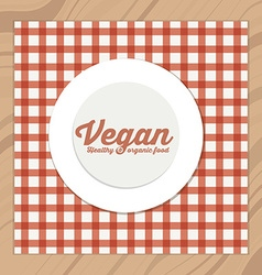Vegan design vector