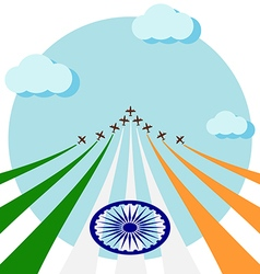 Air show for celebrate the national day of india vector