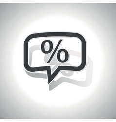 Curved percent message icon vector