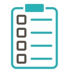 Examination icon from business bicolor set vector