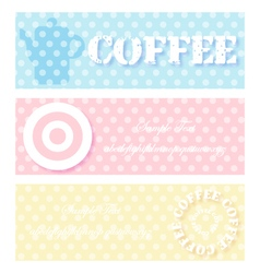 Coffee blue pink color vector